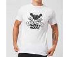 Disney Camiseta Disney Mickey Mouse Efecto Espejo - Hombre - Blanco - 4XL - Blanco