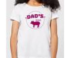 By IWOOT Camiseta Dad's BBQ - Mujer - Blanco - 3XL - Blanco