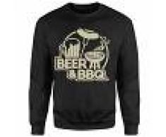 By IWOOT Sudadera Beer & BBQ - Hombre - Negro - 4XL - Negro
