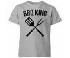 The Dad Collection Camiseta BBQ King - Niño - Gris - 11-12 años - Gris