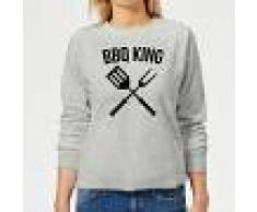 The Dad Collection Sudadera BBQ King - Mujer - Gris - L - Gris