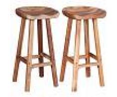 vidaXL Taburetes de bar madera de acacia maciza 2 unidades 38x37x76 cm