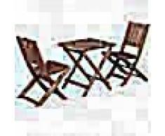 VidaXL Mesa y sillas de jardín para niños 3 pzas madera de eucalipto