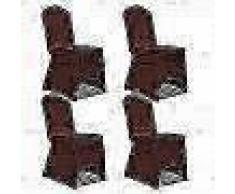VidaXL Funda de silla elástica 4 unidades marrón