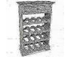 VidaXL Botellero de madera maciza reciclada 55x23x85 cm
