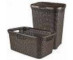 Curver Cesto de ropa sucia y de colada Style marrón 105 L 240684