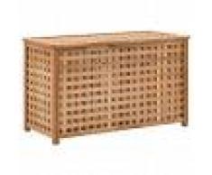 vidaXL Baúl para la ropa sucia 77,5x37,5x46,5 cm madera maciza nogal