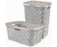 Curver Cesto de ropa sucia y de colada Style blanco 105 L 240657