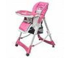 VidaXL Trona de bebé Deluxe de altura ajustable rosa