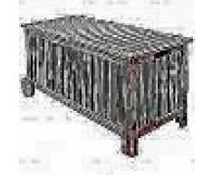 VidaXL Baúl almacenamiento de cojines de jardín madera 118x52x58 cm