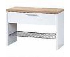 La germania Germania Banco zapatero Top blanco y roble Sonoma 3192-178