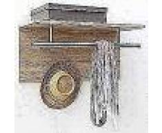 FMD Perchero de pared 72x29,3x34,5 cm roble 441-001