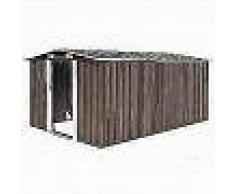 VidaXL Caseta de jardín de metal marrón 257x398x178 cm