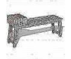 VidaXL Banco con cajón madera de mango maciza 120x36x60 cm