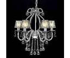 VidaXL Lámpara de araña colgante, candelabro de metal con 2300 cristales