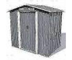 VidaXL Caseta de jardín de metal 204x132x186 cm gris