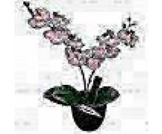 VidaXL Planta artificial orquídea con macetero 30 cm rosa