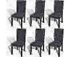 VidaXL Funda para silla elástica recta 6 unidades gris antracita