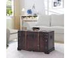 vidaXL Baúl vintage de madera 66x38x40 cm