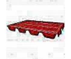 VidaXL Dosel de reemplazo para columpio de jardín 249x185 cm rojo