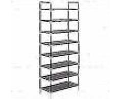 VidaXL Zapatero con 8 estantes de metal y textil no tejido negro