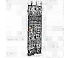 VidaXL Perchero de pared HOME IS con 6 ganchos 120x40 cm