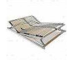 VidaXL Somier de láminas con 28 listones FSC de 7 regiones 140x200 cm