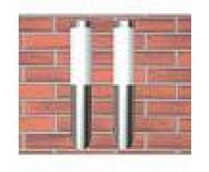 VidaXL 2 Apliques de exterior, lámparas de pared, 6 x 36 cm