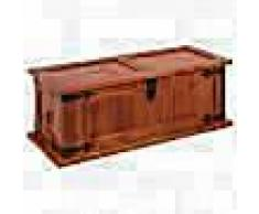 VidaXL Baúl de almacenamiento de madera maciza de acacia 60x25x22 cm