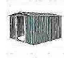 VidaXL Caseta de jardín de metal verde 257x298x178 cm