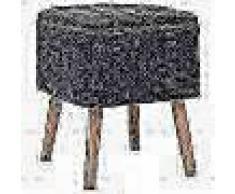 VidaXL Taburete con almacenaje tela rectangular 38x36x46cm gris oscuro