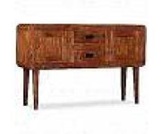 VidaXL Aparador de madera maciza con acabado de Sheesham 120x30x75cm