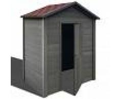 vidaXL Caseta de almacenamiento de jardín WPC 188x188x264 cm gris