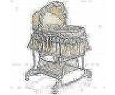 Little World Cuna mecedora 2 en 1 85x70x110 cm beige LWFU002-BG