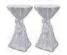 VidaXL 2 manteles blancos de 70 cm con lazo