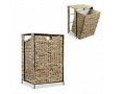 VidaXL Cesto para la ropa sucia de jacinto de agua 44x34x64 cm