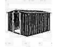 VidaXL Caseta de jardín de metal antracita 257x298x178 cm