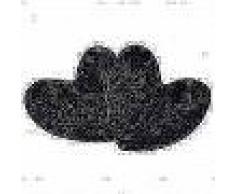 VidaXL Cojines en forma de corazón 2 unidades pelo sintético negro