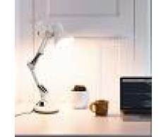 vidaXL Lámpara de escritorio brazo ajustable blanco E27