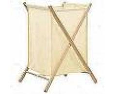 VidaXL Cesto de ropa sucia madera de cedro y tela beige 42x41x64 cm
