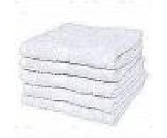 VidaXL Toallas de baño 5 unidades algodón 500 gsm 100x150 blancas