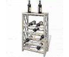 VidaXL Botellero con estantes de madera para 25 botellas
