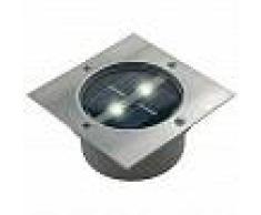 Ranex Foco solar cuadrado 0,12 W plateado 5000.198