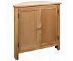 VidaXL Armario de esquina de madera maciza de roble 80x33,5x78 cm