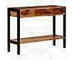 VidaXL Aparador con 3 cajones madera maciza de sheesham 110x30x75 cm