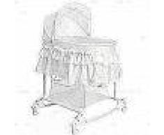 Little World Cuna mecedora 2 en 1 85x70x110 cm blanca LWFU002-WH