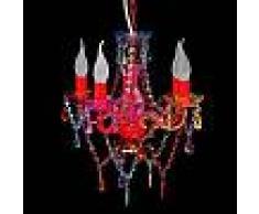 VidaXL Lámpara araña de techo con cristales de varios colores 5 bombillas