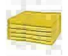 VidaXL Toallas de baño 5 unidades algodón 360 g/m² 100x150 cm amarilla