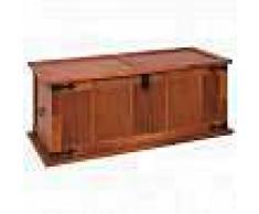 VidaXL Baúl de almacenamiento de madera maciza de acacia 90x45x40 cm