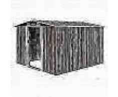 VidaXL Caseta de jardín de metal marrón 257x298x178 cm